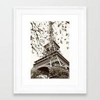 eiffel tower Framed Art Prints featuring Eiffel Tower by Linde Townsend