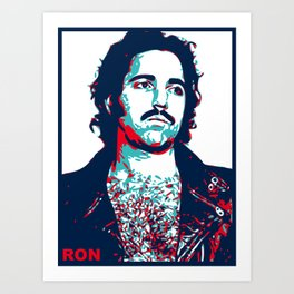 Ron Jeremy - Hope Parody Art Print