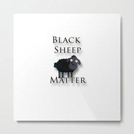 Black Sheep Matter Metal Print