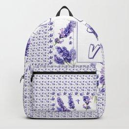 Elegant LOVE Watercolour Lavender Floral Pattern Backpack