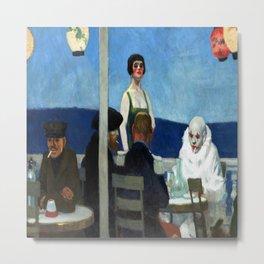 Edward Hopper Soir Bleu Metal Print