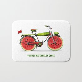 ORGANIC INVENTIONS SERIES: Vintage Watermelon Bicycle Bath Mat