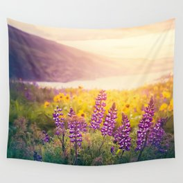 Columbia Gorge Wildflowers Wall Tapestry