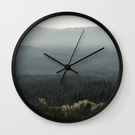 Oregon Mountain Forest Wall Clock