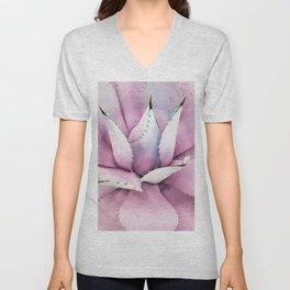 Pink Succulent Unisex V-Neck