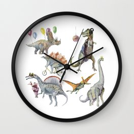 PARTY OF DINOSAURS Wall Clock