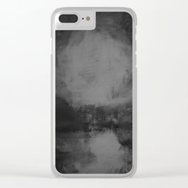 When Glacial Skies Enshroud the Cold Earth Clear iPhone Case