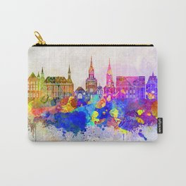 Aachen skyline in watercolor background Carry-All Pouch