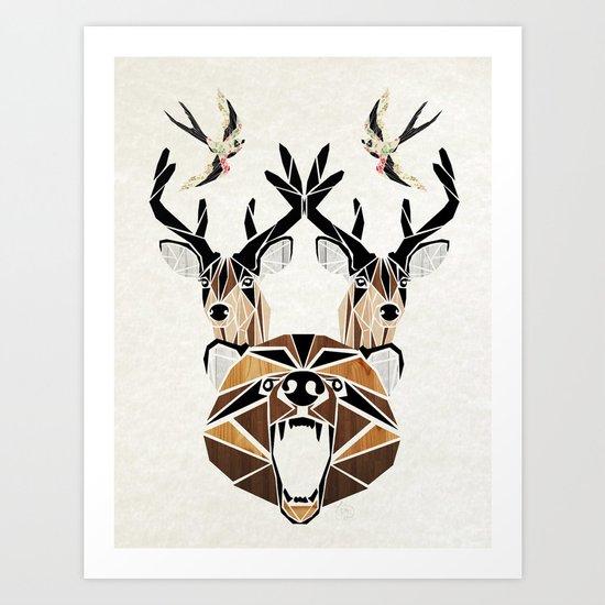 bear & cie Art Print