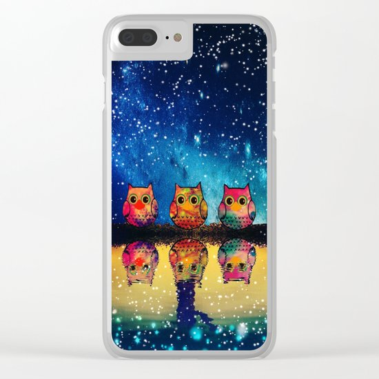 owl-410 Clear iPhone Case