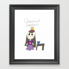 QUEEN OF SWEETNESS Framed Art Print
