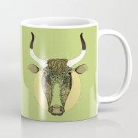 taurus Mugs featuring Taurus by Vibeke Koehler