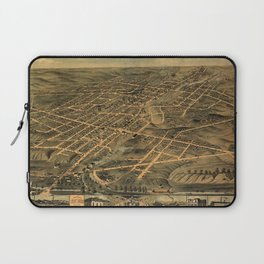 Map Of Akron 1870 Laptop Sleeve