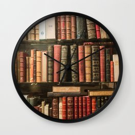 Vintage Books in Paris Wall Clock
