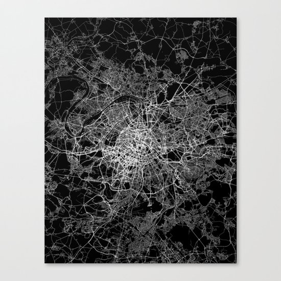 Paris map #2 Canvas Print