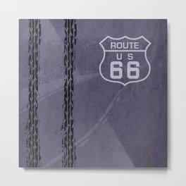 Route 66, Wheels Metal Print