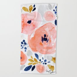 Genevieve Floral Beach Towel