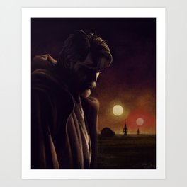 I will watch over the boy Art Print