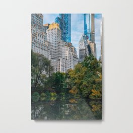 Autumn Color of Central Park in New York City Metal Print