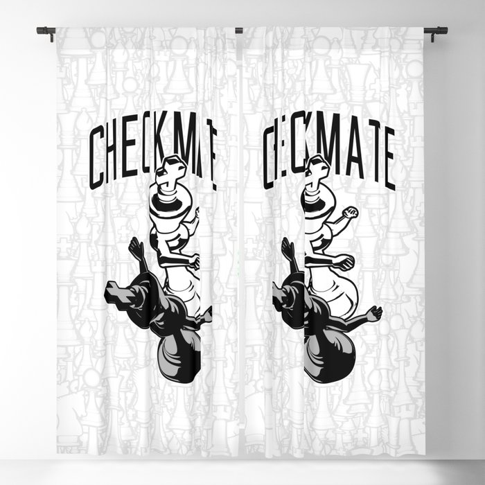Checkmate Punch Funny Boxing Chess Blackout Curtain