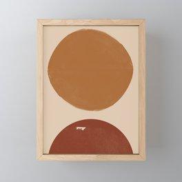 Burnt Orange Sun, New Boho Framed Mini Art Print