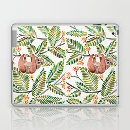 Happy Sloth – Tropical Green Rainforest Laptop & iPad Skin