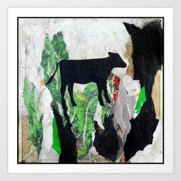 Walking free - Vegan Series - Original Painting by MARINA TALIERA Art Print