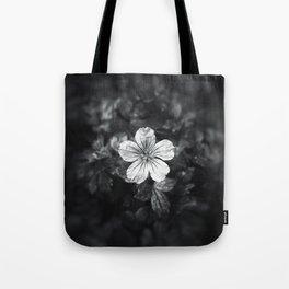 Minimalistic black and white flower petal Tote Bag