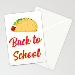 Back to School Tacos Quote Design Stationery Cards