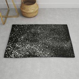 Black Night Glitter #1 #shiny #decor #art #society6 Rug