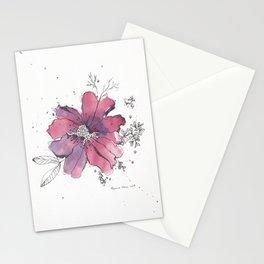 flor morada Stationery Cards