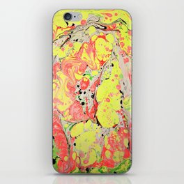 Rasta marbleized print iPhone Skin