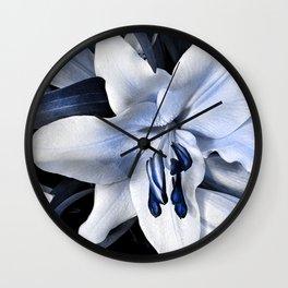 Blue light lily Wall Clock