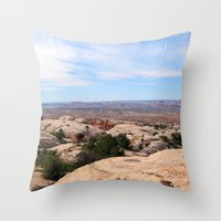 utah Throw Pillows featuring Utah by BACK to THE ROOTS