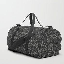 Black Christmas Doodles Duffle Bag