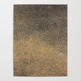 Black Yellow Sandpaper Texture Poster