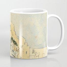 """Eugène Delacroix """"A Moroccan building"""" Coffee Mug"""