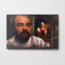 Pulp Fiction Zed and the Gimp Metal Print