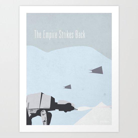 Empire Strikes Back movie poster. Art Print
