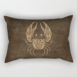 Vintage Rustic Cancer Zodiac Sign Rectangular Pillow