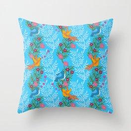 Sweet Lovey Birdies Throw Pillow