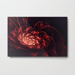 Crimson // 3D Bloom Fractal Metal Print
