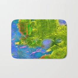 Mysterious animals of water  Bath Mat