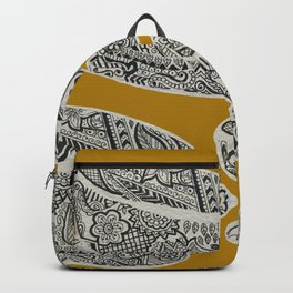 Morning Cuppa! - tea coffee lover zentangle Backpack