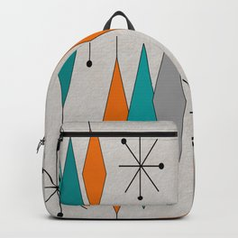 Mid-Century Modern Diamond Pattern Backpack