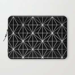 Geometric Pattern Black and White Laptop Sleeve