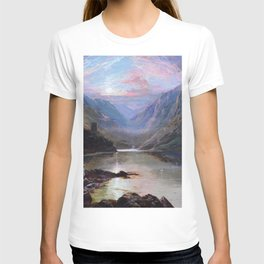Irish Landscape of Donegal Sunset Mountains and Loch landscape by Lough Beagh  T-shirt