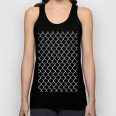Chain Link on Black Unisex Tank Top