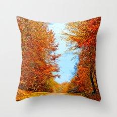 Through the fall Throw Pillow