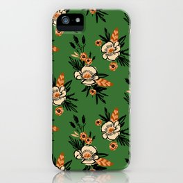 Emerald Blooms iPhone Case